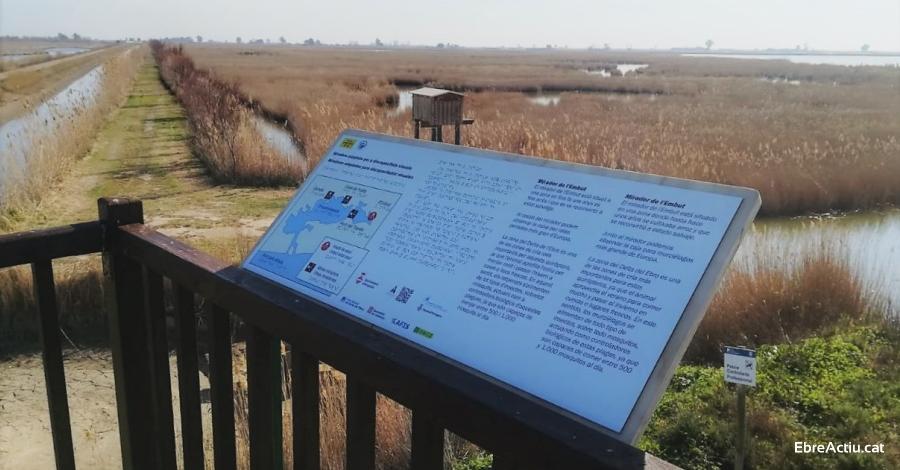 Quatre miradors del Parc Natural del Delta de l'Ebre, més accessibles per a les persones invidents | Amposta.info