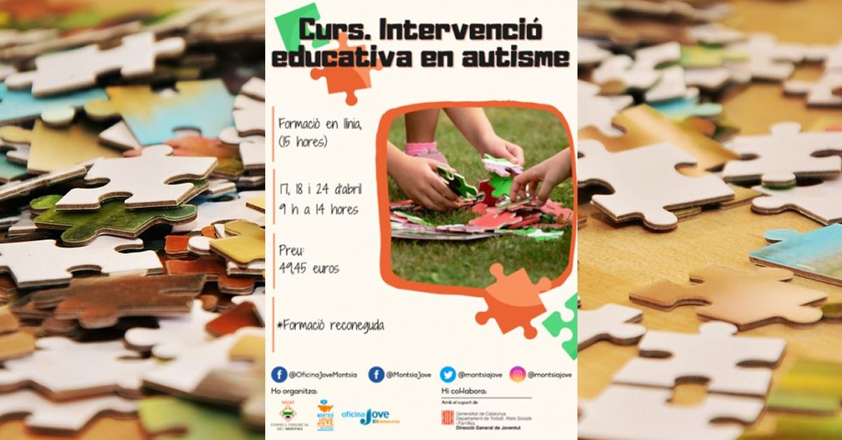 Montsià Jove organitza el curs Intervenció educativa en autisme