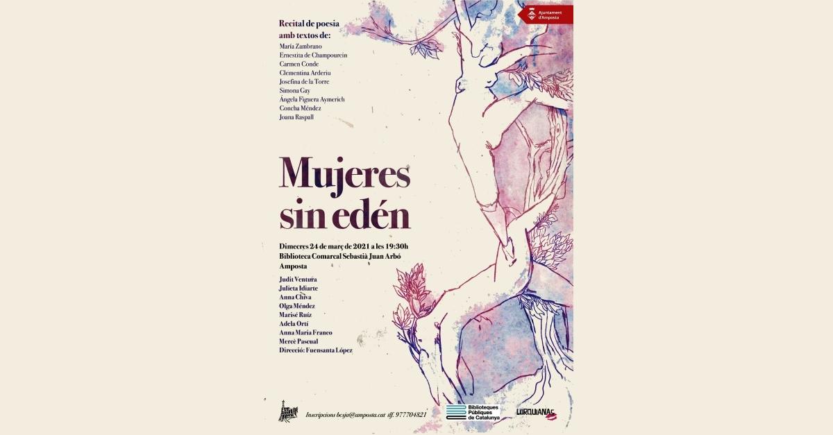 Recital de poesia Mujeres sin edén, a càrrec de Lorquianas