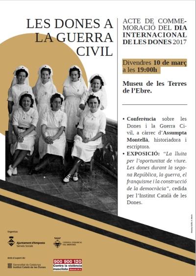 El paper de les dones durant la Guerra Civil centrarà la commemoració del Dia Internacional de la Dona a Amposta | Amposta.info