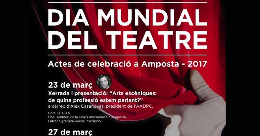 L'actor Àlex Casanovas serà l'encarregat de llegir el manifest del Dia Mundial del Teatre a Amposta