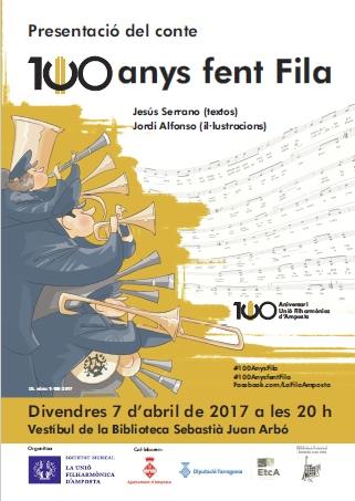 La Unió Filharmònica d'Amposta edita el conte 100 anys fent Fila, amb motiu del seu centenari   Amposta.info