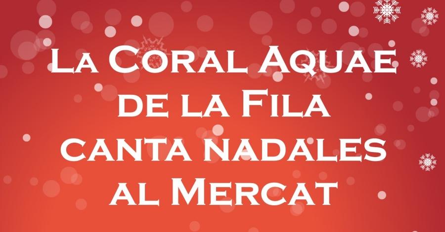 Cantada de Nadales a càrrec de la Coral Aquae de la Unió Filharmònica d'Amposta