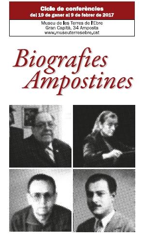 Nou cicle de de conferències Biografies Ampostines   Amposta.info