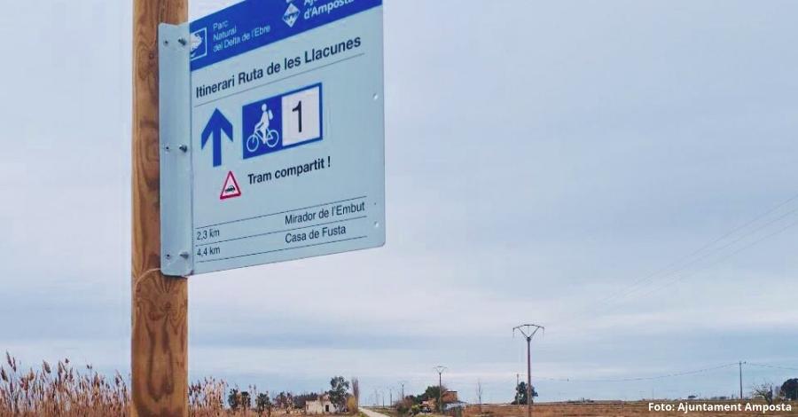 Nova senyalització turística a les llacunes de l'Encanyissada i la Tancada | Amposta.info