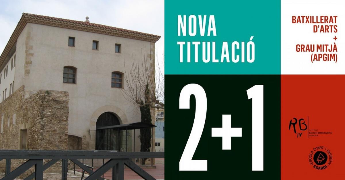 Esardi i l'Institut Ramon Berenguer IV impartiran la titulació doble de batxillerat d'arts i el cicle d'Assistència al Producte Gràfic Imprès