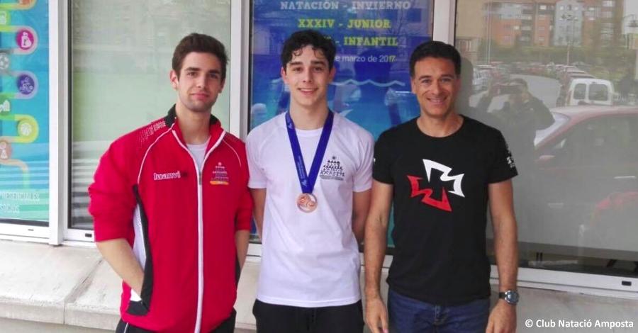 David Bermejo i Marc Martí, bronze i quarta posició en el Campionat d'Espanya de Natació