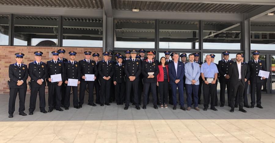 Amposta posa en relleu la tasca de la Policia Local i Protecció Civil amb una vintena de reconeixements i felicitacions