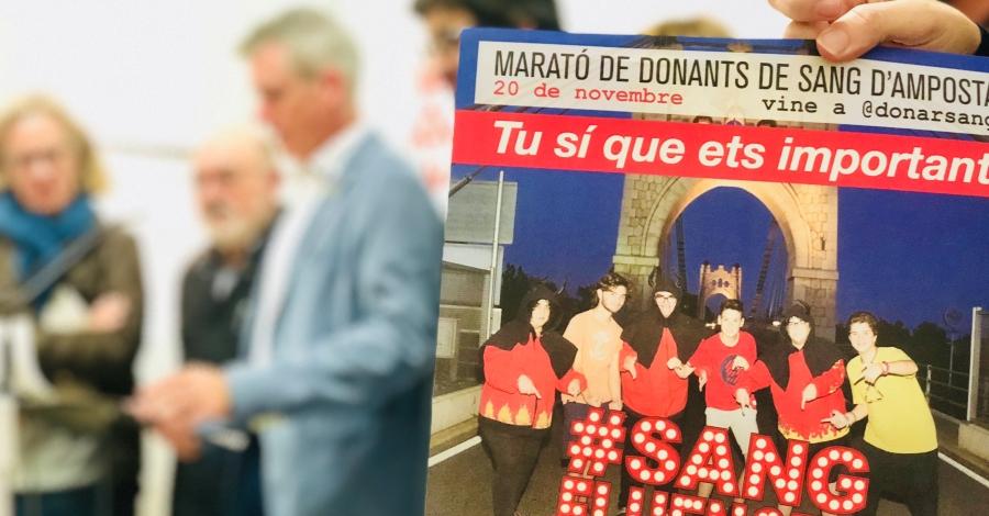 Els #sangfluencers protagonitzen enguany la Marató d'Amposta