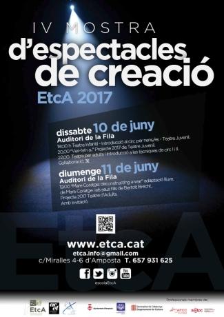 Tot a punt per a la IV Mostra d'espectacle de creació de l'EtcA | Amposta.info