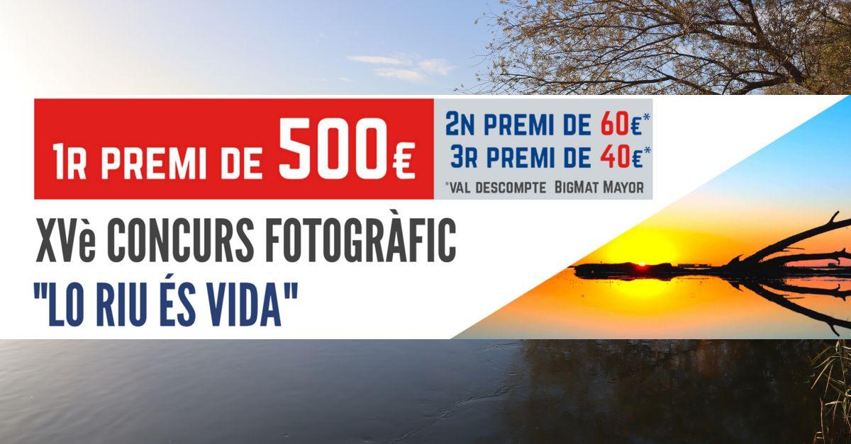 Oberta la presentació d'imatges al XVè Concurs Fotogràfic «Lo riu és vida»