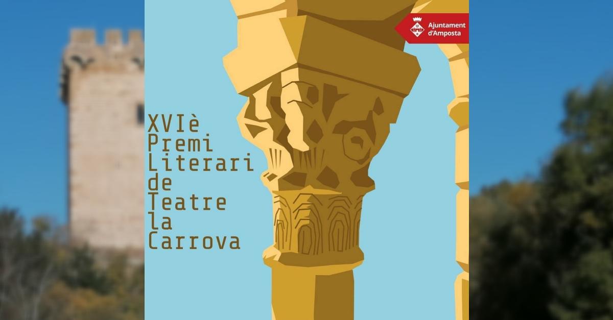Convocada la 16a edició del Premi Literari de Teatre la Carrova