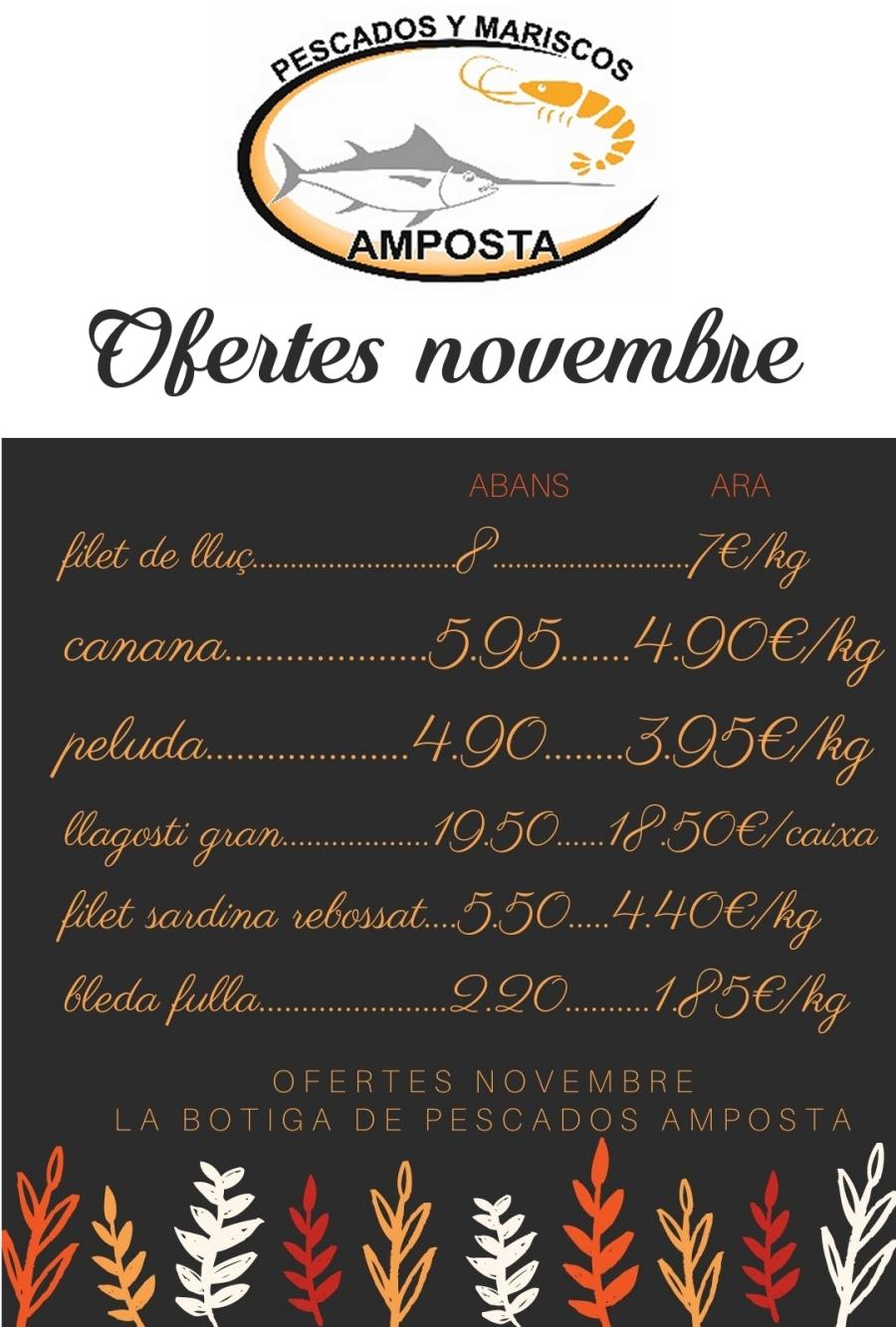 PESCADOS AMPOSTA: OFERTES NOVEMBRE 2020   Amposta.info