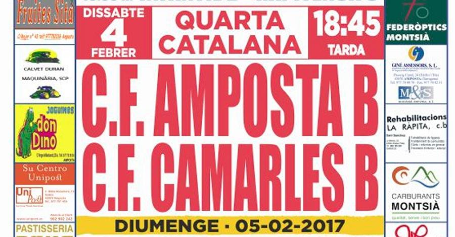 Futbol: C.F. AMPOSTA - C.F. CAMARLES B