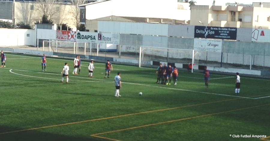 Futbol: CF. AMPOSTA 1 - CF. CAMARLES 1