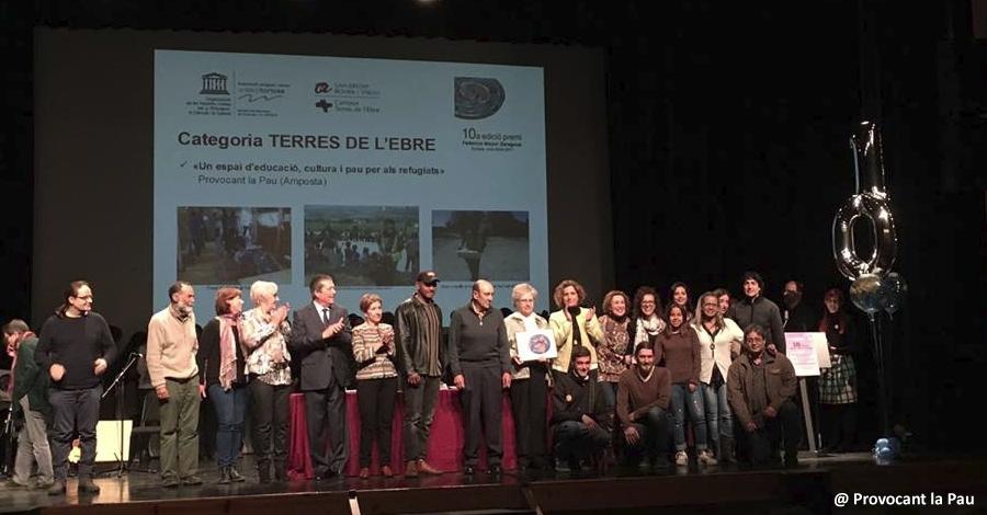 Provocant la Pau, guardonada amb el Premi Federico Mayor Zaragoza