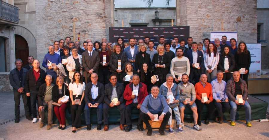 Nombrosa representació ampostina als Premis Esportius de les Terres de l'Ebre