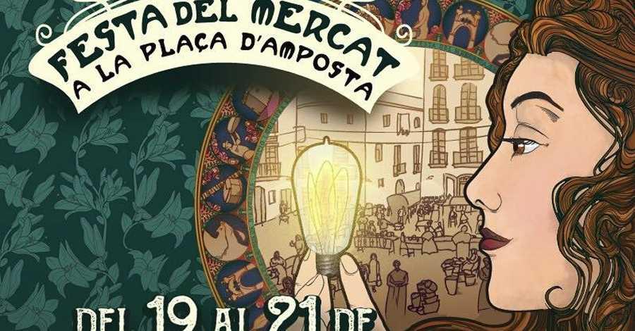 Avui s'ha presentat el cartell de la 9a edició de la Festa del Mercat, que enguany estarà dedicada a l'arribada de la llum