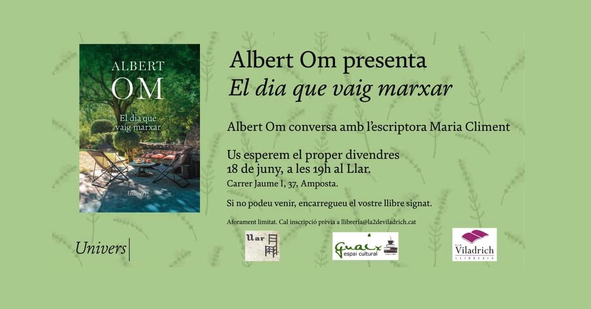 Albert Om presenta el seu llibre El dia que vaig marxar