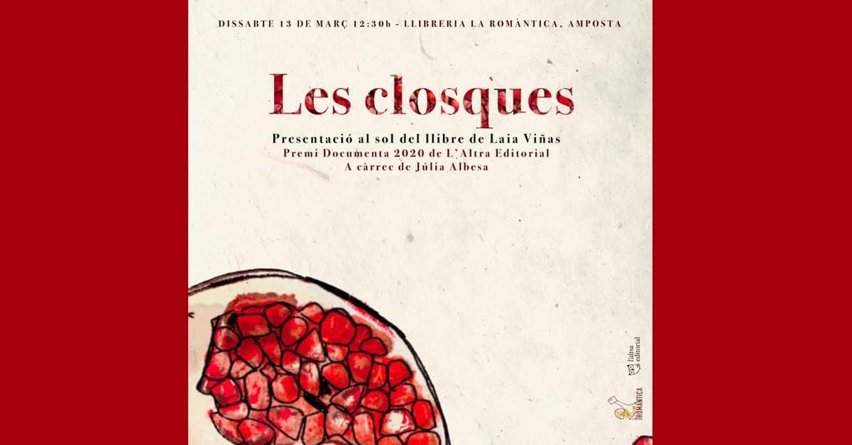 Presentació del llibre «Les closques» de Laia Viñas a càrrec de Júlia Albes