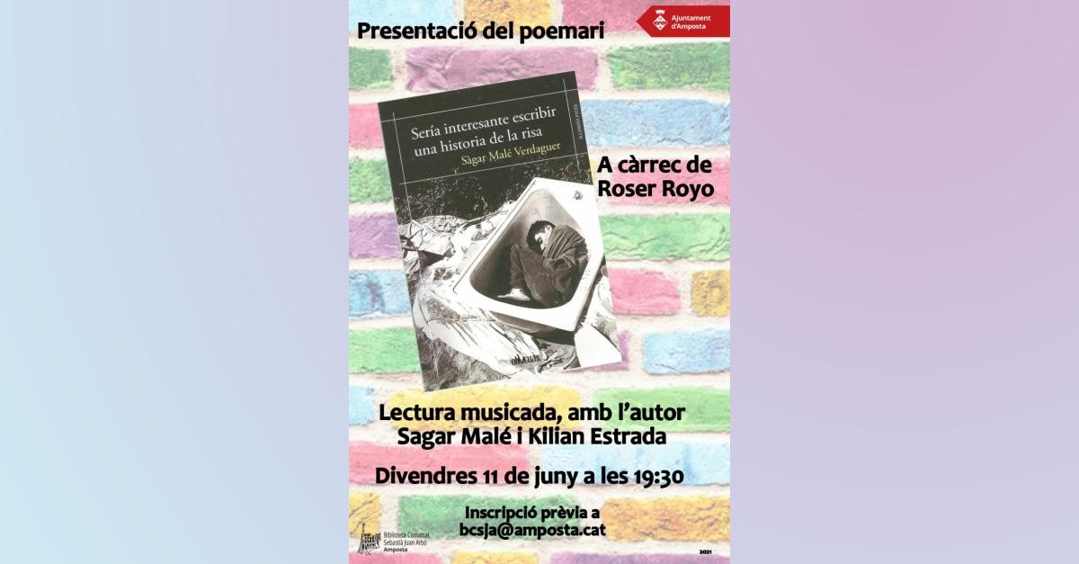 """Presentació del llibre de poesies del mataroní Sàgar Malé: """"Seria interesante escribir una historia de la risa"""""""