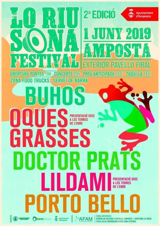 Buhos, Oques Grasses i Doctor Prats, caps de cartell de la segona edició de Lo Riu Sona Festival | Amposta.info