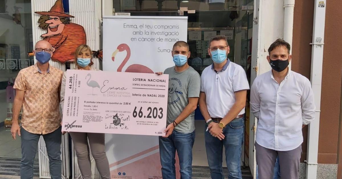 Loteria solidària amb el projecte Emma, per a la investigació del càncer de mama