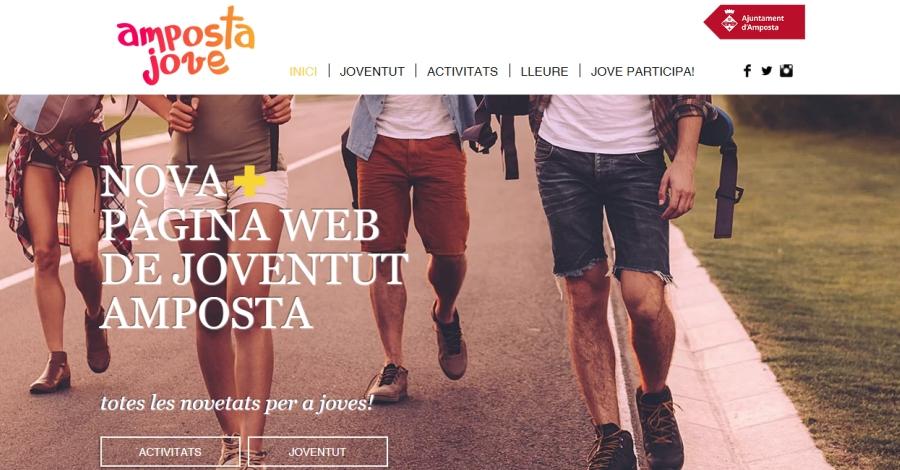 Joventut Amposta estrena nova web
