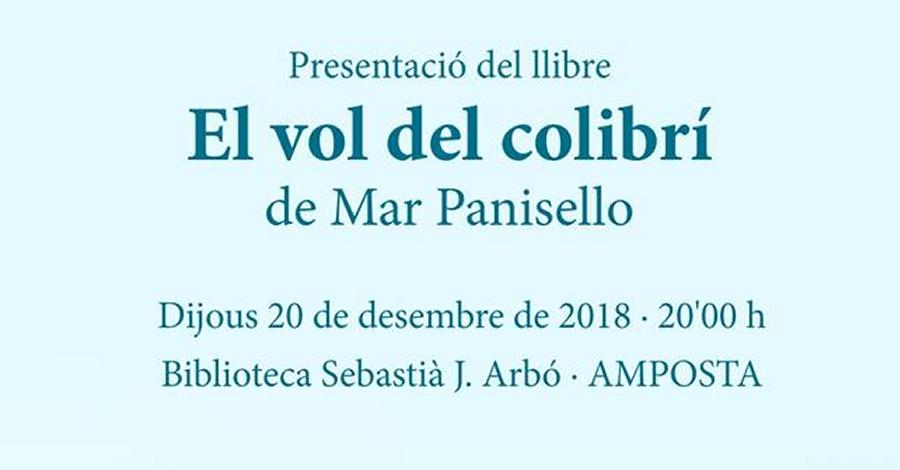 Presentació del llibre «El vol del colibrí» de Mar Panisello
