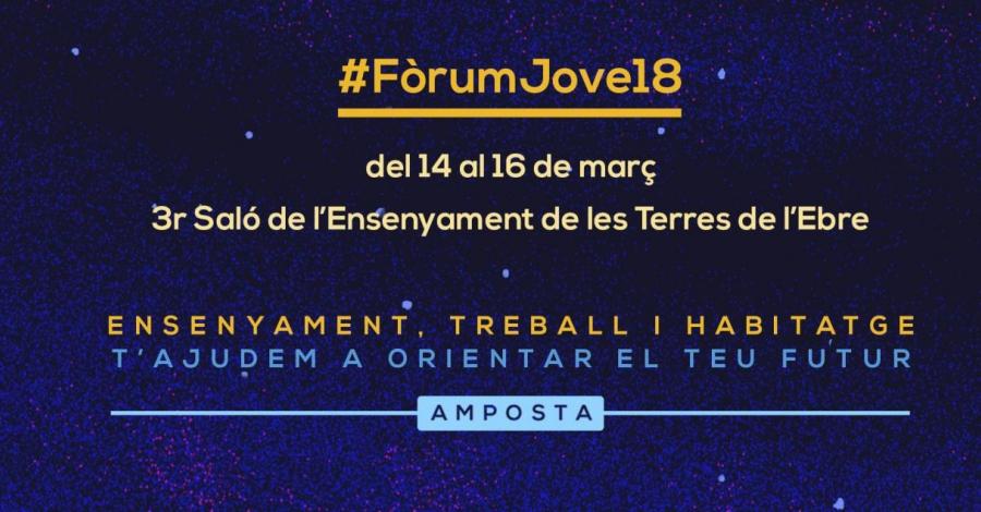 El #FòrumJove18 reunirà prop d'una cinquantena d'expositors i més de 1.400 estudiants | Amposta.info