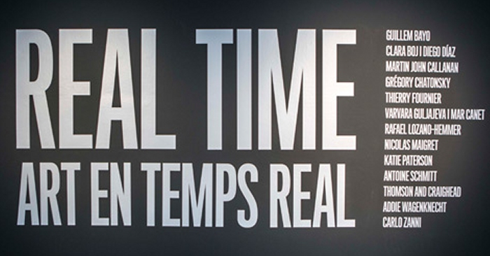 Real time. Art en temps real.