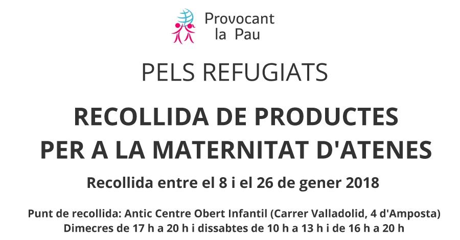 Campanya de recollida de productes per a la maternitat d'Atenes