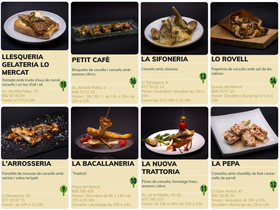 Dinou bars i restaurants participaran a la primera edició de la Ruta dels platerets de la carxofa i l'arròs | Amposta.info