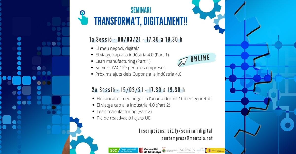 Seminari Transforma't, digitalment!