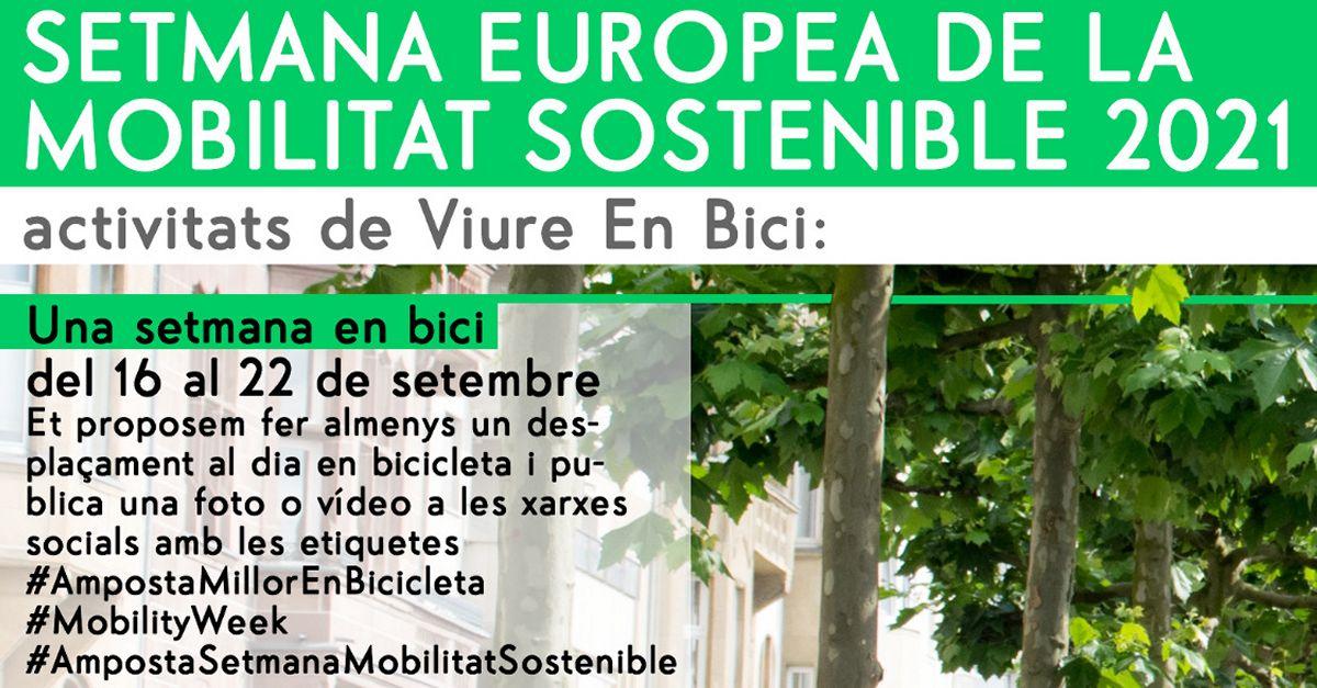 Setmana Europea de la Mobilitat Sostenible. Activitats de l'entitat Viure en Bici
