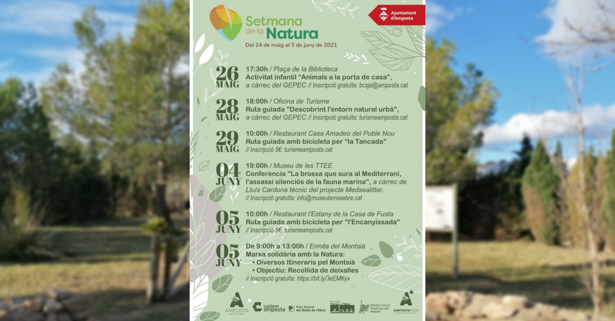 Setmana de la Natura, del 24 de maig al 5 de juny | Amposta.info