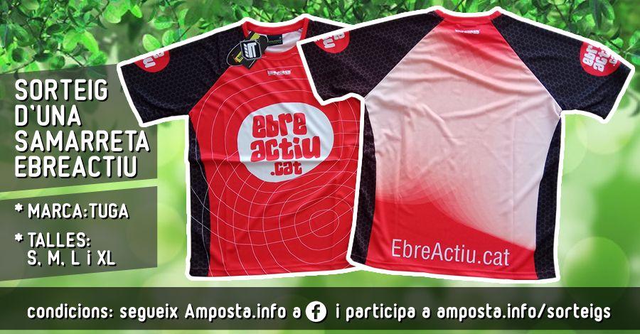 <p>Sorteig d'una samarreta EbreActiu (marca Tuga)</p>