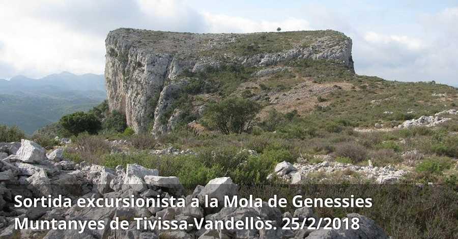 Sortida excursionista a la Mola de Genessies (Muntanyes de Tivissa-Vandellòs)
