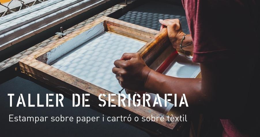 Taller de serigrafia. Estampar sobre paper i cartró o sobre tèxtil
