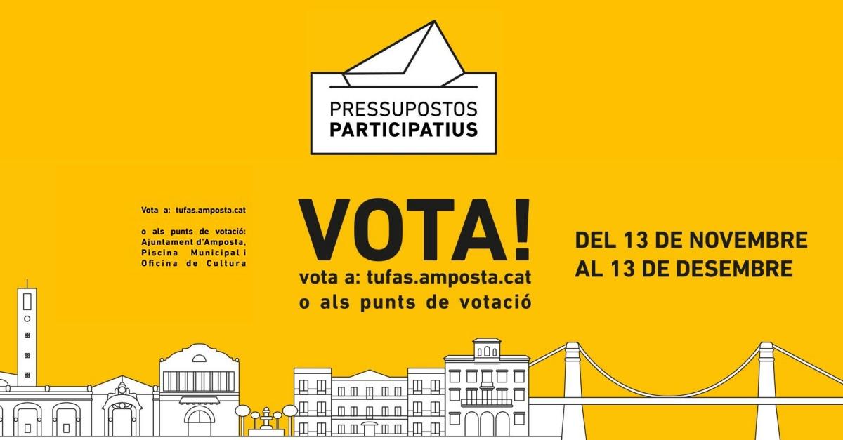 Arranca la fase de votació dels pressupostos participatius Tu fas Amposta! 2020-2021 | Amposta.info