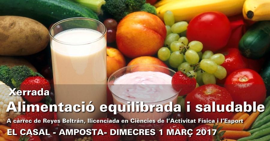 Xerrada «Alimentació equilibrada i saludable»